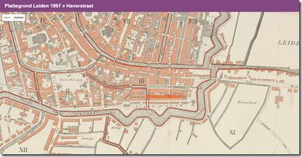 Historische kaarten met straat markering